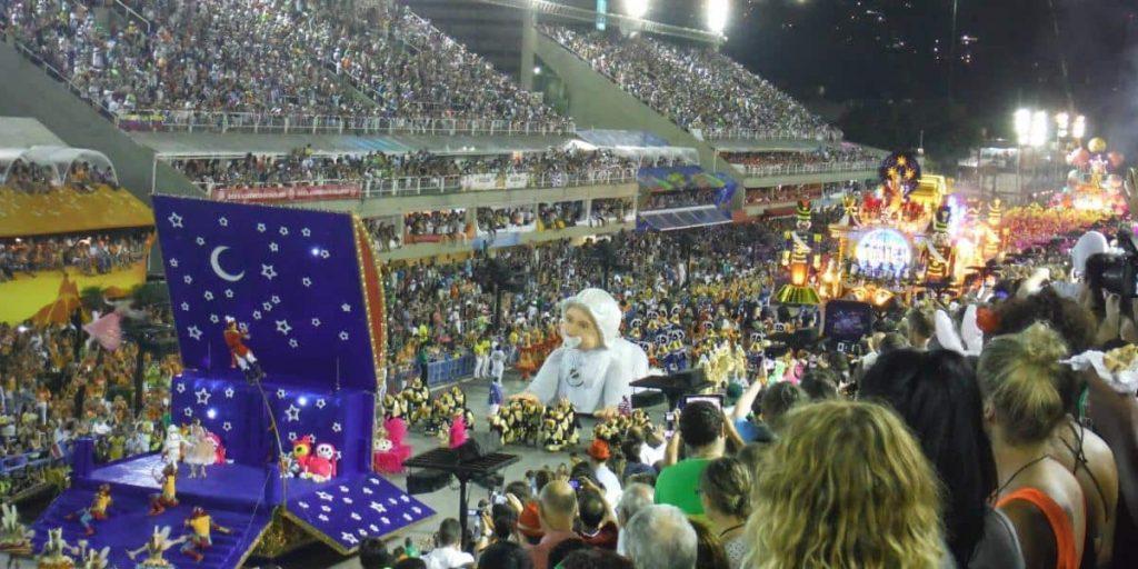 Carnival parade living abroad in Rio De Janeiro Brazil