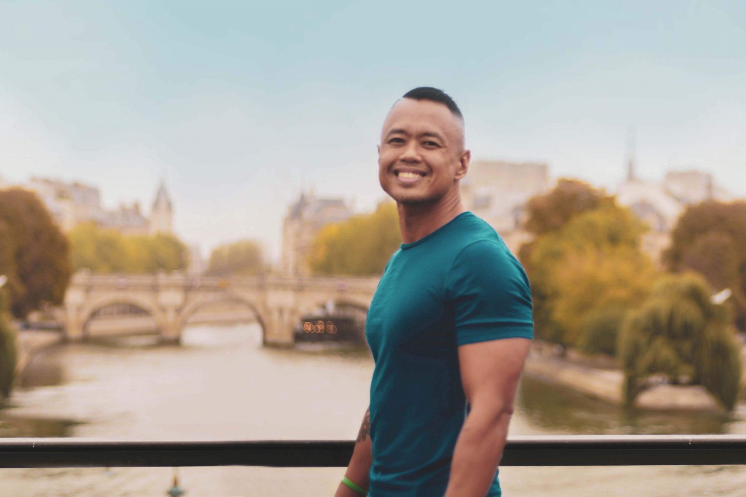 man living overseas in Paris