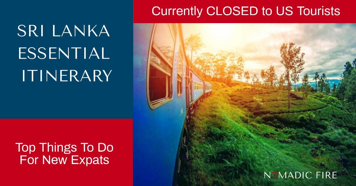 Nomadic FIRE Sri Lanka Essential Itinerary